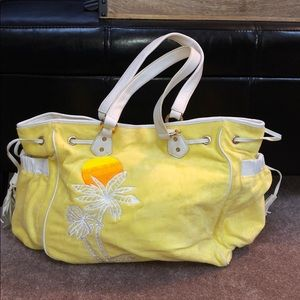 Juicy Couture Yellow Large Beach-bag